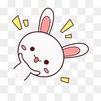 小清新动物手绘可爱兔子png
