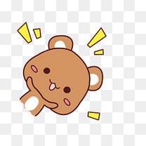 小清新动物手绘可爱小熊png