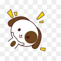 小清新动物手绘可爱狗狗png