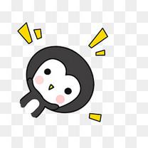 小清新动物手绘可爱企鹅png