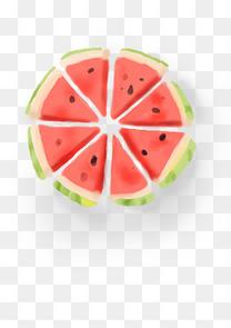 手绘夏季水果西瓜