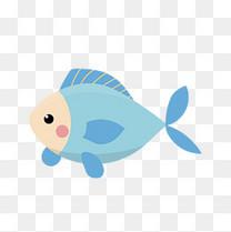 蓝色的鱼矢量素材