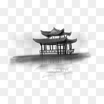 中国水墨手绘风景