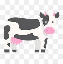 卡通矢量可爱奶牛