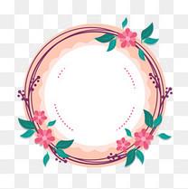 温馨粉色花朵花卉边框花边装饰