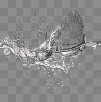 清水水花水波纹元素