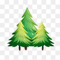 卡通绿色的树矢量素材