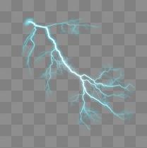 蓝色闪电光束元素