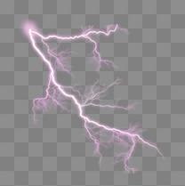 紫色闪电漂浮元素