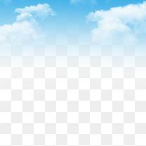 蓝色天空免抠素材