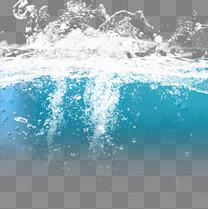 喷溅的水浪水流元素