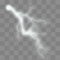 炫彩光效闪电元素