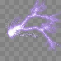 闪电酷炫光束元素