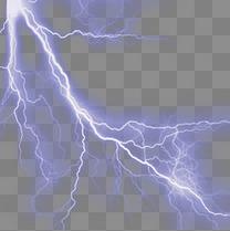 紫色闪电光束元素