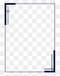 简约深蓝色四边形边框