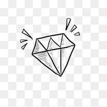儿童节简笔速写手绘涂鸦钻石