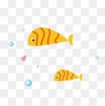 夏日卡通海洋小鱼免抠元素