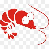 卡通手绘夏日小龙虾