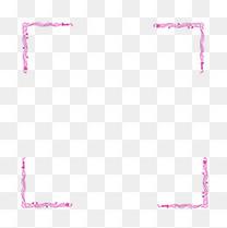 紫色花纹花边传统边框元素