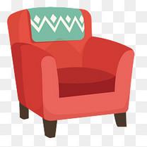 卡通沙发造型元素