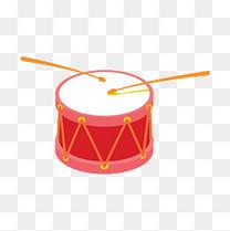 卡通矢量乐器小鼓