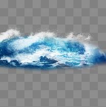 水效果蓝色海浪元素