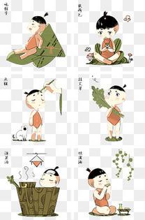 传统节日端午节风俗插画