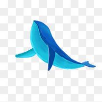手绘鲸鱼素材元素
