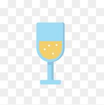 美味爱心酒杯免扣素材