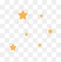 星星漂浮装饰线框闪亮