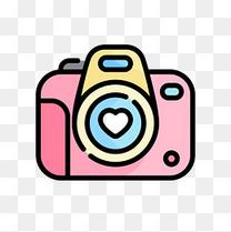 粉红相机卡通免扣素材