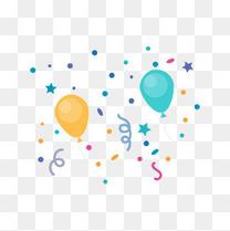 节日气球装饰矢量
