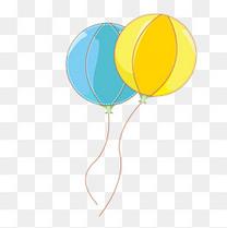 六一儿童节卡通彩色气球