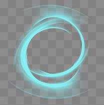 蓝色激光炫光元素