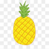 手绘卡通美食菠萝元素下载