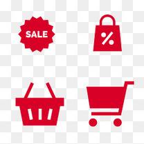 商场购物折扣图标素材