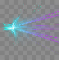 蓝紫色炫酷光效元素