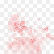 粉色樱花花瓣元素