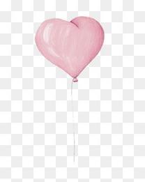 情人节儿童节卡通粉色心形气球