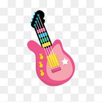 六一儿童节彩色玩具吉他