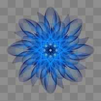 时尚梦幻蓝色花朵矢量素材