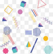 孟菲斯风格时尚潮流几何点线面背景底纹素材