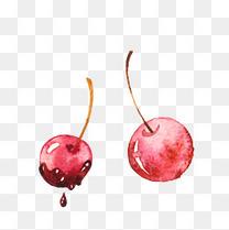 卡通手绘水果樱桃