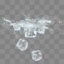 清新冰块冰晶元素