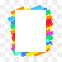 彩条边框对话框文本框