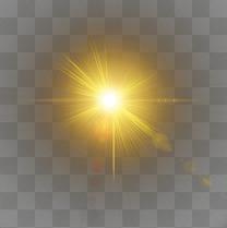 黄色炫光效果元素