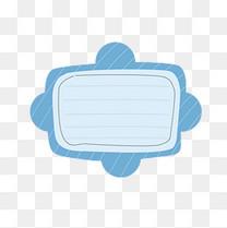 卡通边框对话框文本框