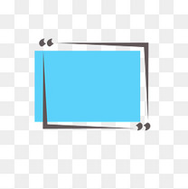 蓝色底边框对话框文本框