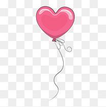 六一儿童节卡通粉色心形气球