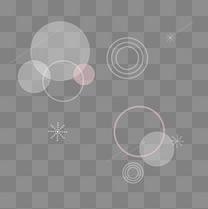 白色装饰漂浮圆形